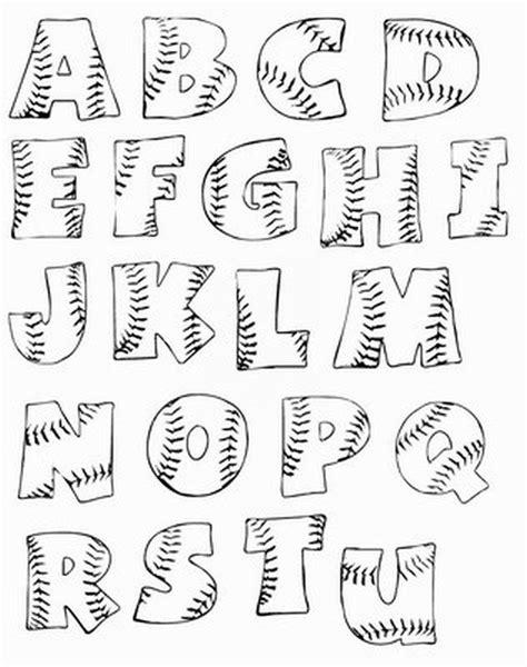printable baseball bubble letters sports pinterest