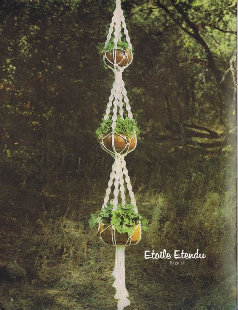 Macrame Patterns For Hanging Plants - macrame plant hanging pdf pattern
