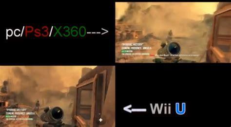 wii vs xbox 1 graphics black ops 2 wii u vs ps3 xbox 360 graphics comparison wii u