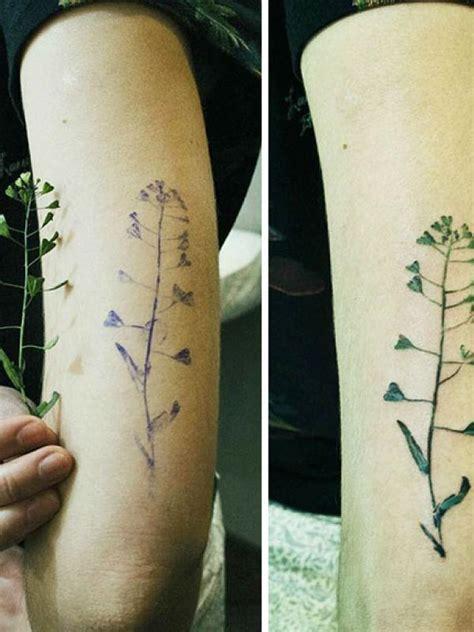 tato asli inilah seni tato dari daun asli yang bikin kamu iri