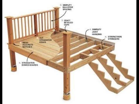 deck building p   build  frame  multilevel