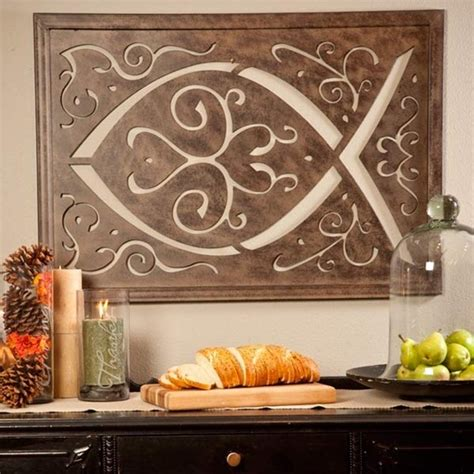 amazon com metal wall hanging large ichthys ichthus 41 best images about christian fish symbols on pinterest