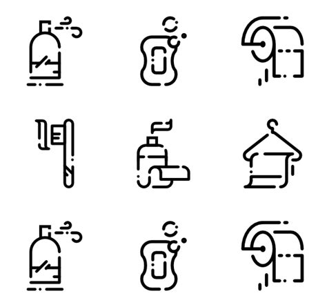 Bathroom Colours by Toilet Icons 736 Free Vector Icons