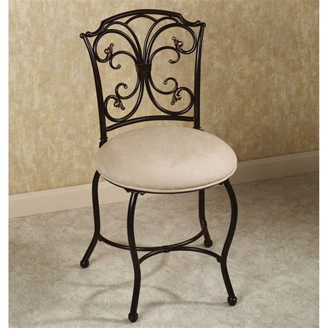 Dining Room Chairs On Wheels vanity chair with back design options homesfeed