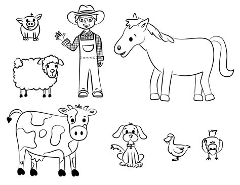 farm animals coloring pages preschool old mcdonald coloring page back to school pinterest