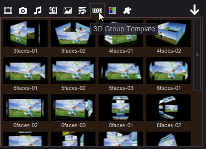 Free Download Various 3d Video Group Effects Easy To Create 3d Slideshow Video 3d Photos Slideshow After Effects Template