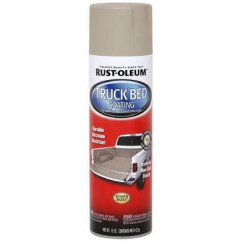 rustoleum bed liner spray rust oleum automotive 15 oz tan truck bed coating spray paint case of 6 253438