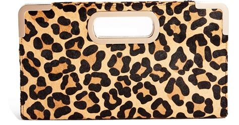 Up Of Designer Animal Print Clutch by Lyst Dune Beviez Leopard Print Clutch Bag