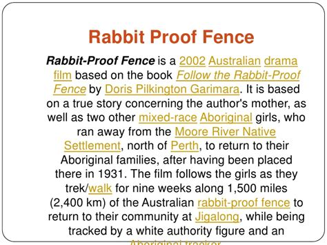 Rabbit Proof Fence Essay Techniques by Essay On Rabbit Proof Fence Zoro Blaszczak Co