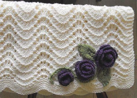feather and fan knit pattern feather fan baby blanket pattern on ravelry knitting