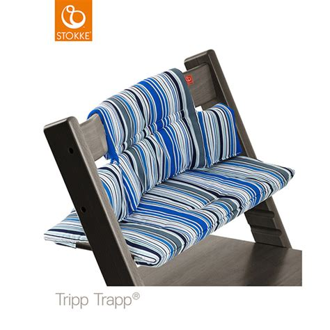 soldes coussin fauteuil b 233 b 233 tripp trapp rayures marine