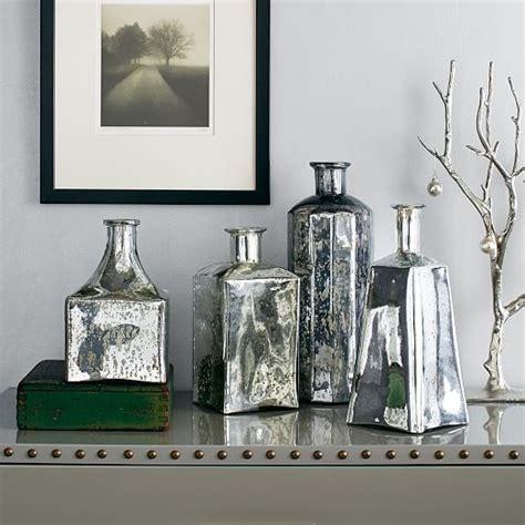 Mercury Glass L West Elm by Mercury Glass Bottle Vases West Elm