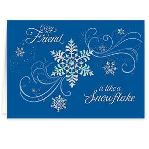 Personalized snowflake christmas cards view 2