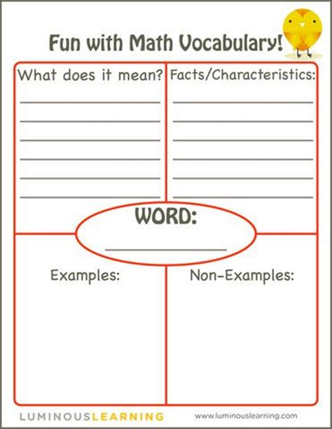 vocabulary word wall template math vocabulary worksheets free math vocabulary