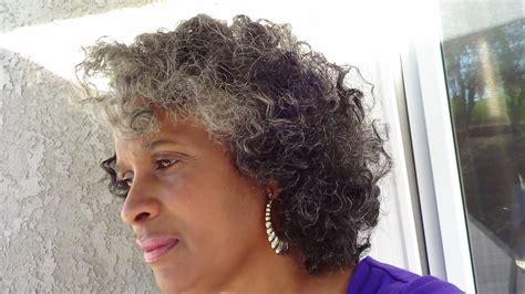 bantu knot outon natural gray hair youtube