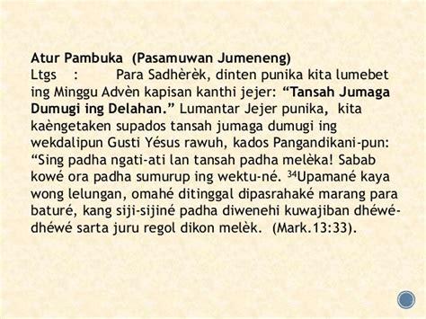 liturgi minggu adven i jawa