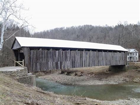 Cabin Creek by Cabin Creek Bridge In Tollesboro Kentucky