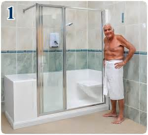 monoluxe shower features easy access showers for the