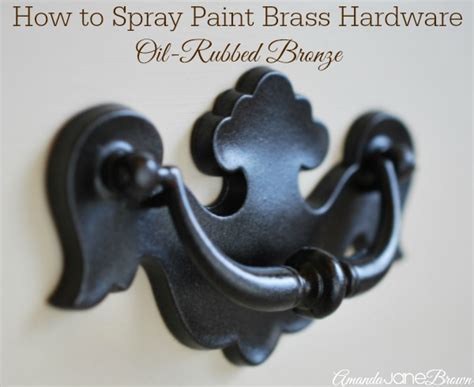 How To Spray Paint Cabinet Hardware by How To Spray Paint Brass Hardware Amanda Brown