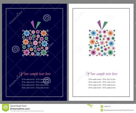 flowers gift greeting cards stock  image