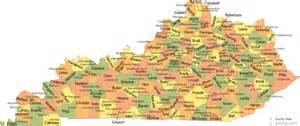 map of kentucky counties kentucky sights