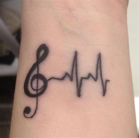 neck tattoo refused treble clef heart tattoo with heart beet line tattooed