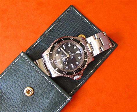 Green Pouch new rolex green leather pouch holder chrono shop
