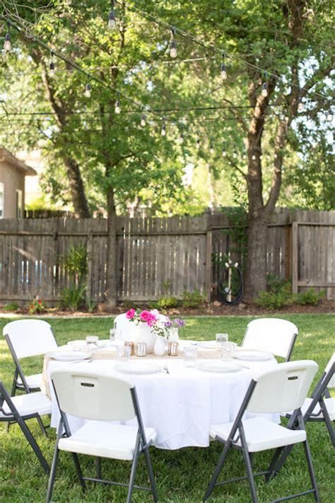 backyard dinner party domestic fashionista backyard anniversary dinner party