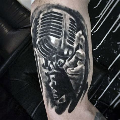 90 microphone tattoo designs for men manly vocal ink