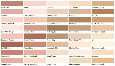 image gallery ivory color chart