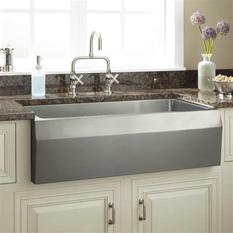 stainless farmhouse kitchen sinks 27 quot optimum stainless steel farmhouse sink kitchen