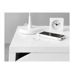 selje bedside table w wireless charging white 46x37 cm ikea