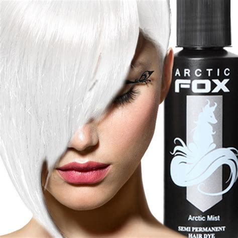 Arctic Fox Silver Hair Dye   arctic fox 100 vegan semi permanent hair dye hair color 4