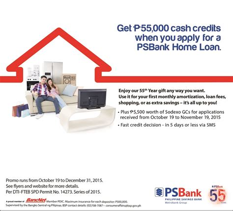 psbank housing loan get php55 000 cash credits with your new psbank home loan spend it your way