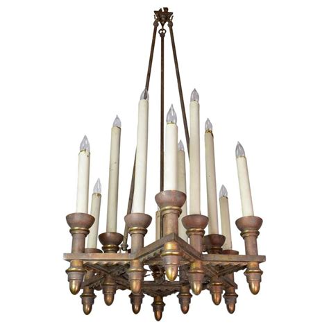 Iron Candle Chandelier Iron And Bronze 12 Candle Chandelier For Sale At 1stdibs