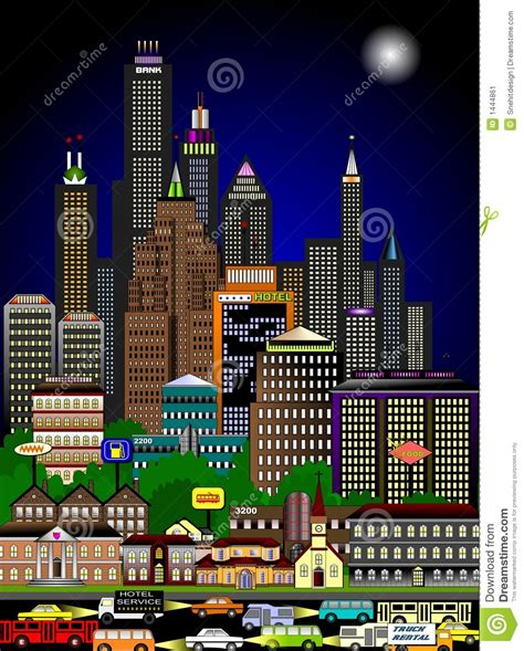 imagenes de paisajes urbanos animados apresurar paisaje urbano en la noche stock de ilustraci 243 n