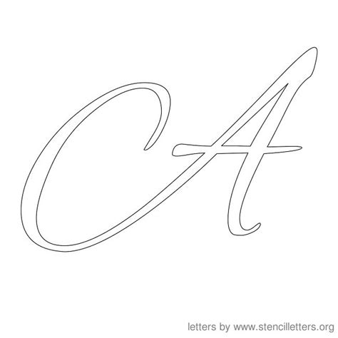 a in cursive new calendar template site