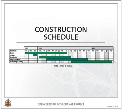 construction project schedule template