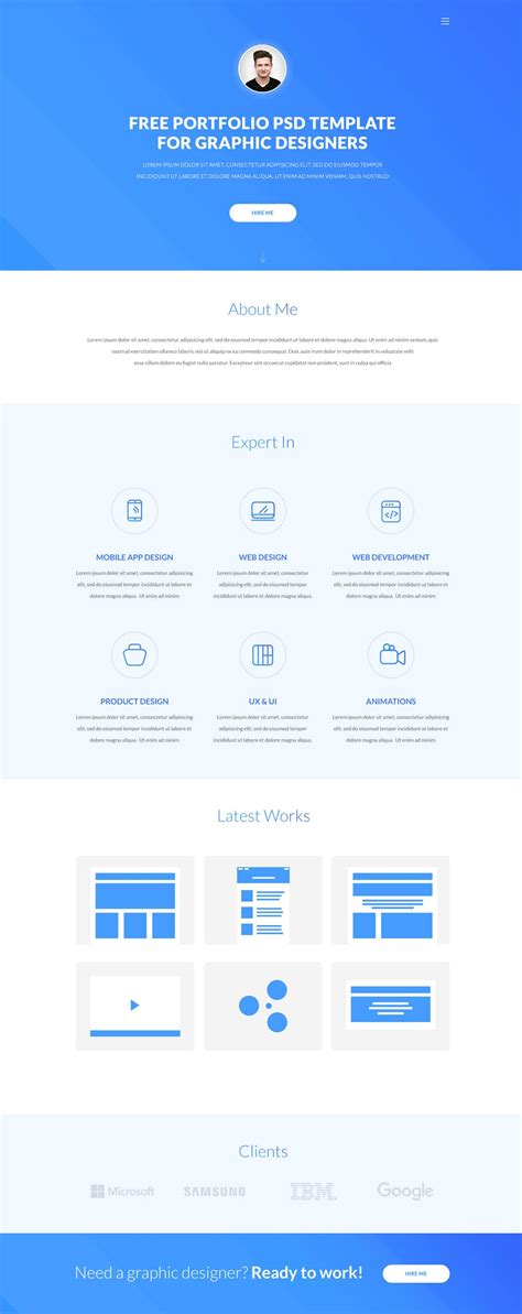 Free One Page Resume Website Template by One Page Resume Website Template Free Resume Template