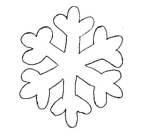 printable snowflakes to cut out snowflake template clipart best