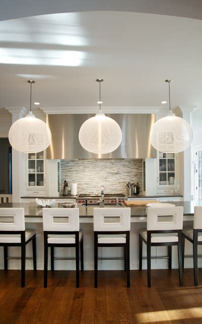 white leather bar stools contemporary kitchen