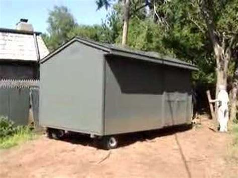 how to move a storage shed