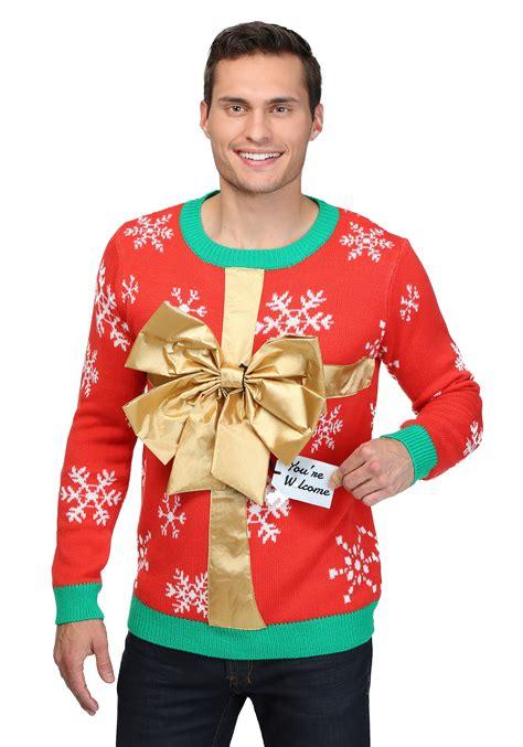 christmas present ugly christmas sweater
