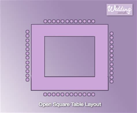 dinner opensquare layout wedding table plan how to manage your wedding seating