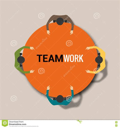 concept work group of business people working in office team