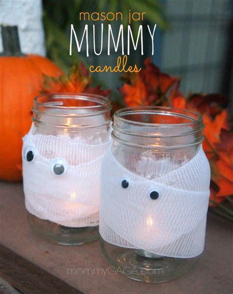 diy decor spooky jar mummy candles