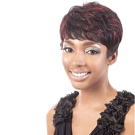 Types Of Synthetic Hair by Motown Tress Synthetic Wavy Wig Boycut