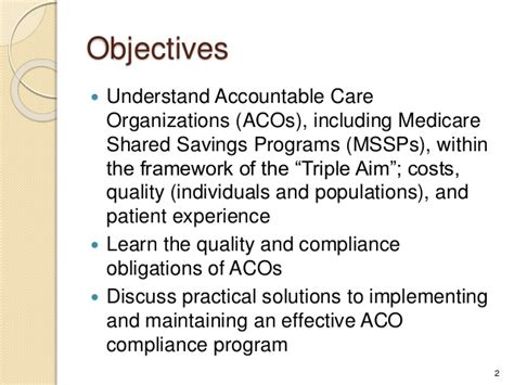 Compliance Mba Programs by Effective Aco Compliance 2013 Compliance Institute P10