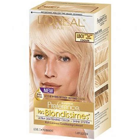 im looking for hair dyes that match loreals healthy hair sweet cherry l oreal preference les blondissimes lb01 light ash blonde