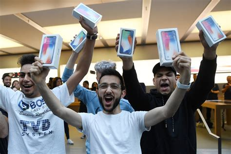 iphone fan in apple fans around the line up for iphone x